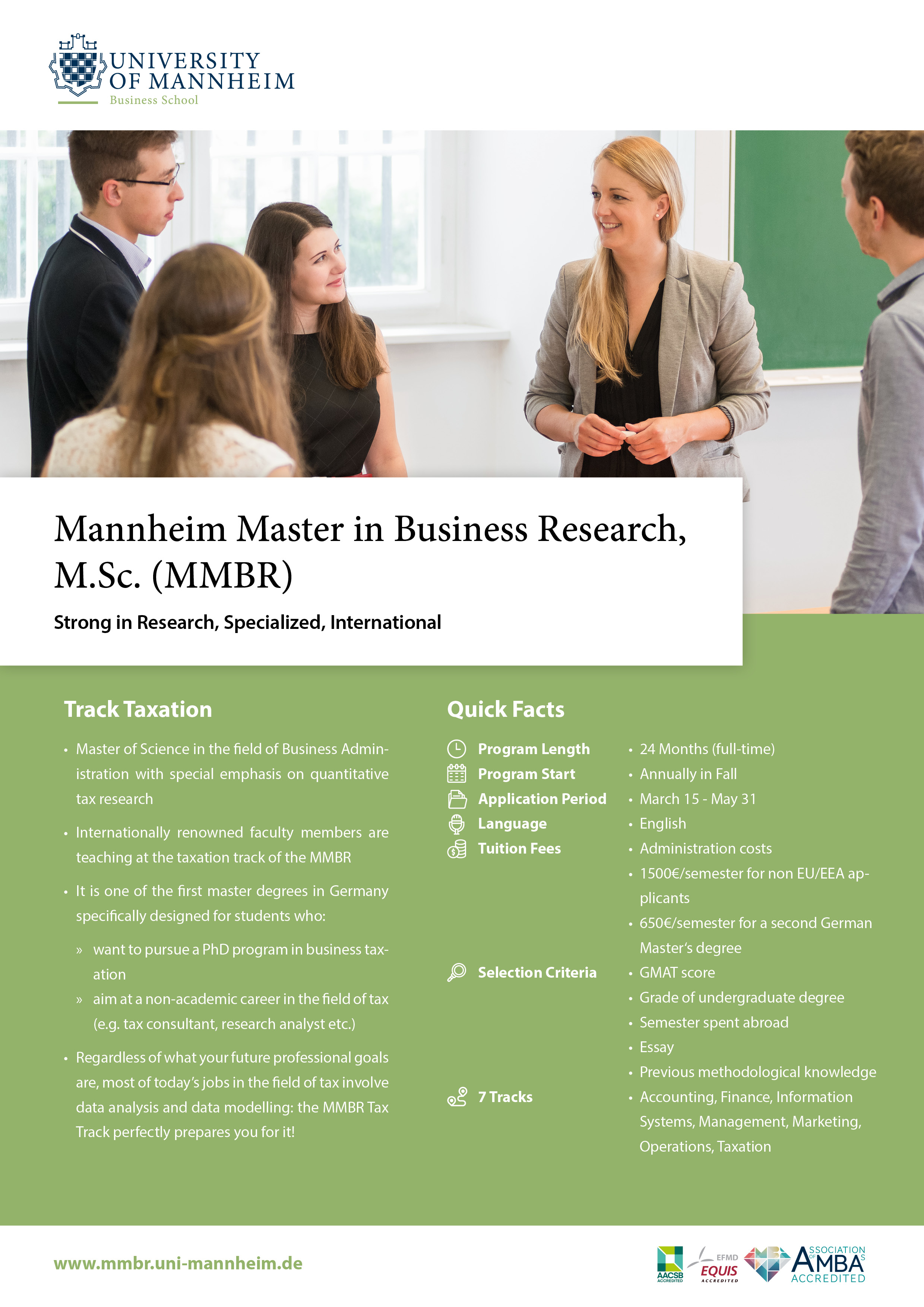 University of Mannheim Business School: Mannheim Master in Business