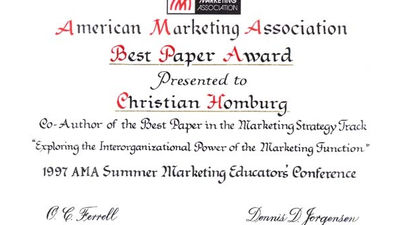 Chicago (Illinois), 1997, Best Paper Award 1997