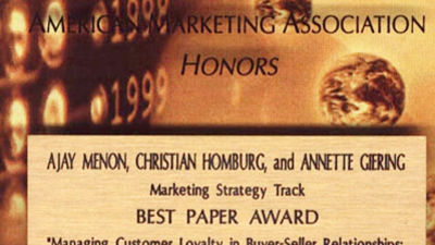 San Francisco (California), 1999, Best Paper Award 1999