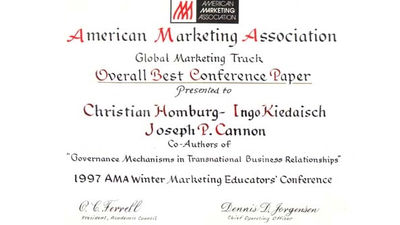 Saint Petersburg (Florida), 1997, Overall Best Conference Paper 1997