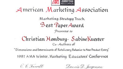 Saint Petersburg (Florida), 1997, Best Paper Award 1997